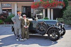tappning för bilshow royaltyfri foto