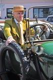 tappning för bilshow royaltyfri fotografi