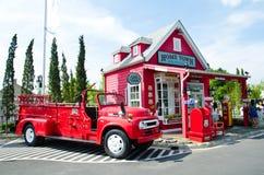 tappning för brandlastbil Arkivfoton
