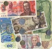 tappning för closeupvalutaeuropean Arkivbild