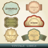 tappning för etikettset royaltyfri illustrationer