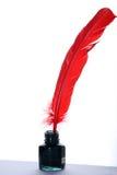 tappning för fjäderfärgpulverbläckhorn royaltyfria foton