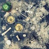 Tappning för garnering för Champagnedrinkcoctail suckulent Arkivbild