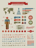 tappning för infographics för element hög utformad kvalitet vektor illustrationer