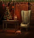 tappning för jullokaltree Fotografering för Bildbyråer