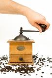 tappning för kaffegrinder Fotografering för Bildbyråer