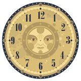 tappning för klockaframsida stock illustrationer