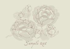 tappning för kortblomma lilly royaltyfri illustrationer