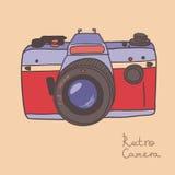 tappning för 35mm kameraslr royaltyfri illustrationer
