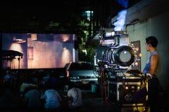 tappning för projektor för bana för clippingfilm bland annat Arkivbilder