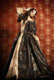 tappning för restaurang för modeflickainre gammal Royaltyfria Foton