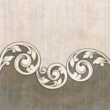 tappning för scroll för modell för bakgrundsgravyrgrunge Royaltyfri Bild