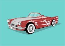 tappning för sepia för bilbil retro Arkivbild