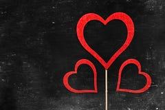 tappning för valentin för dagvykort s Älska begreppet för dag för moder` s och dag för valentin` s Lyckliga hjärtor för dag för v Royaltyfria Foton