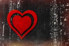 tappning för valentin för dagvykort s Älska begreppet för dag för moder` s och dag för valentin` s Lyckliga hjärtor för dag för v Arkivfoto