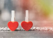 tappning för valentin för dagvykort s Älska begreppet för dag för moder` s och dag för valentin` s Lyckliga hjärtor för dag för v Arkivfoton