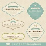 tappning för vektor för etikettset Royaltyfri Fotografi