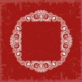 tappning för vektor för inre stil för ramillustration symmetrisk Royaltyfri Fotografi