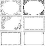 tappning för vektor för kantillustration set royaltyfri illustrationer