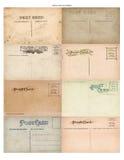 tappning för vykort för 8 antikvitet set Royaltyfria Foton
