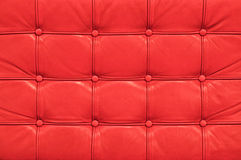 tappning för sofa för bakgrundsläder röd Royaltyfri Foto