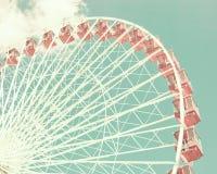 Tappning Ferris Wheel Royaltyfri Bild