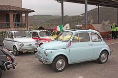 Tappning Fiat 500 Royaltyfri Fotografi
