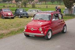 Tappning Fiat 500 Abarth Royaltyfria Foton