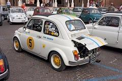Tappning Fiat 500 Abarth Arkivfoton