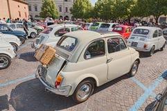 Tappning Fiat 500 Royaltyfria Bilder