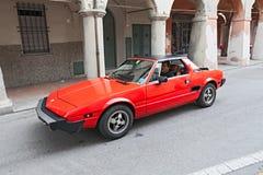 Tappning Fiat X1/9 Royaltyfri Bild