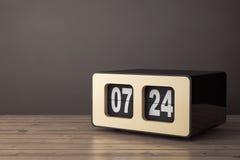 Tappning Flip Clock framförande 3d Arkivfoton