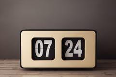 Tappning Flip Clock framförande 3d Royaltyfria Bilder