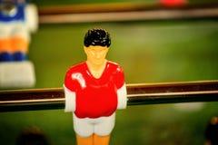 Tappning Foosball, tabellfotboll eller fotbollKickerlek Royaltyfri Bild