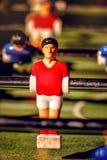 Tappning Foosball, tabellfotboll eller fotbollKickerlek Royaltyfri Foto