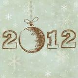 tappning för 2012 kort Arkivfoto