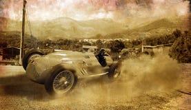 tappning för bilrace Fotografering för Bildbyråer