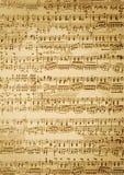tappning för musikark Arkivbild