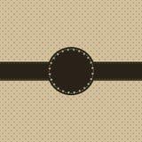 tappning för polka för prick för kortdesign Royaltyfria Bilder