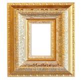 Inramar guld- trä för tappning Arkivbilder
