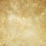 Tappning gulnad pappers- bakgrund eller textur Royaltyfri Bild