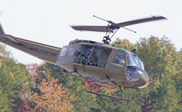 Tappning Huey Helicopter Royaltyfria Bilder