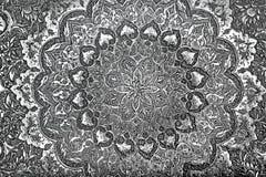 Tappning inristad metall Royaltyfria Foton