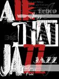 Tappning Jazz Poster Background stock illustrationer