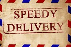Tappning luftar postar kuvertet royaltyfri illustrationer