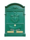 Grön postbox Royaltyfria Foton
