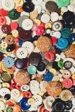 Tappning mång--färgade knappar Royaltyfri Foto