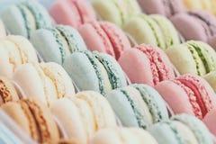 Tappning Macarons Royaltyfri Fotografi