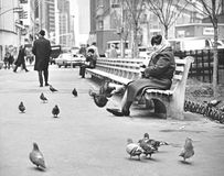 Tappning Manhattan - Greeley fyrkant 1972 Arkivbilder