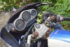 Tappning Motorbike Arkivbild
